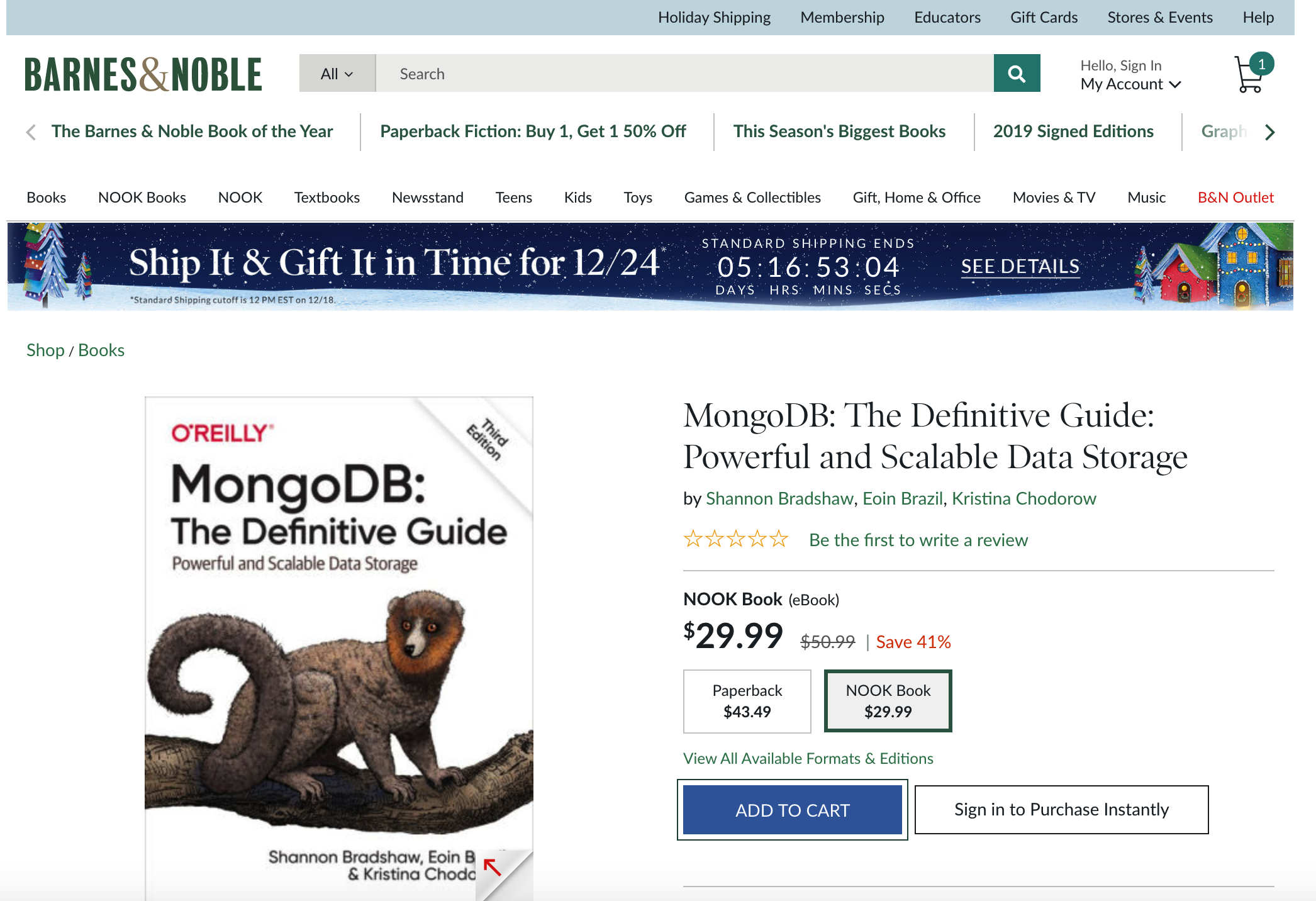 MongoDB: The Definitive Guide, 3rd Edition - Barnes & Noble